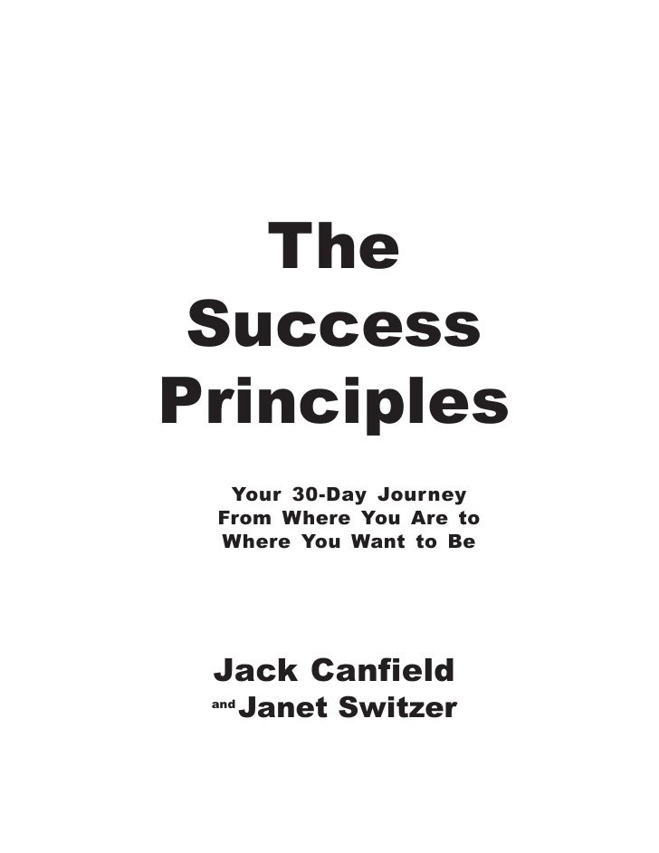 The success principles (bonus pack) jack canfield & janet