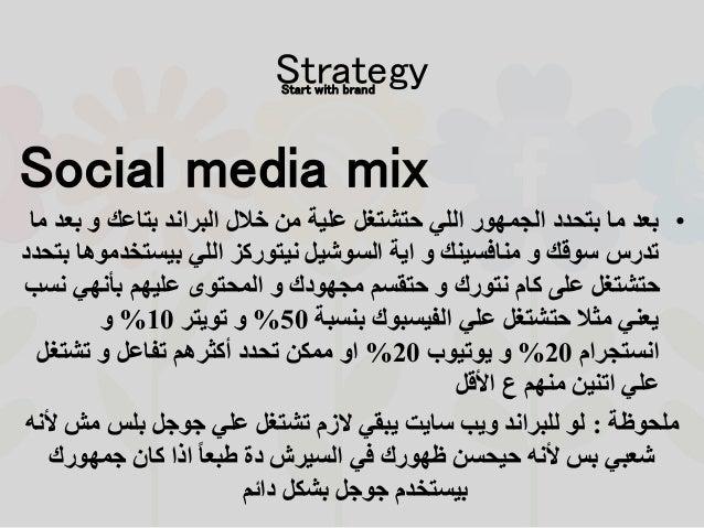 Social media mix •ب و بتاعك البراند خالل من علية حتشتغل اللي الجمهور بتحدد ما بعدما عد بيست...
