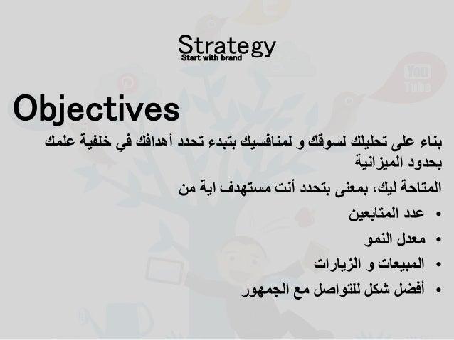 Objectives علمك خلفية في أهدافك تحدد بتبدء لمنافسيك و لسوقك تحليلك على بناء الميزانية بحدود م...