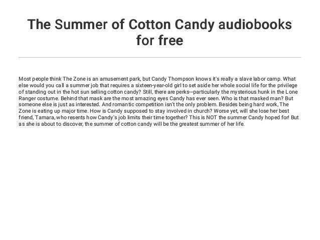 The Summer of Cotton Candy audiobooks for free