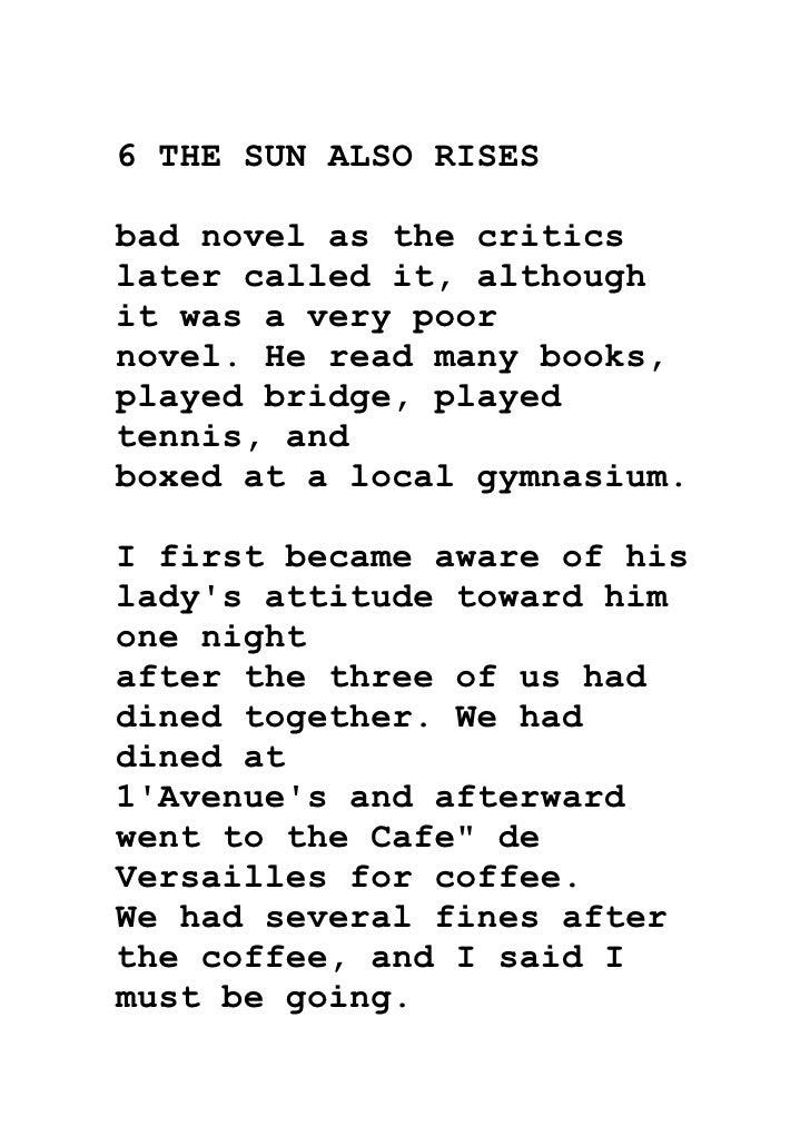 Ernest Hemingway Novels Pdf