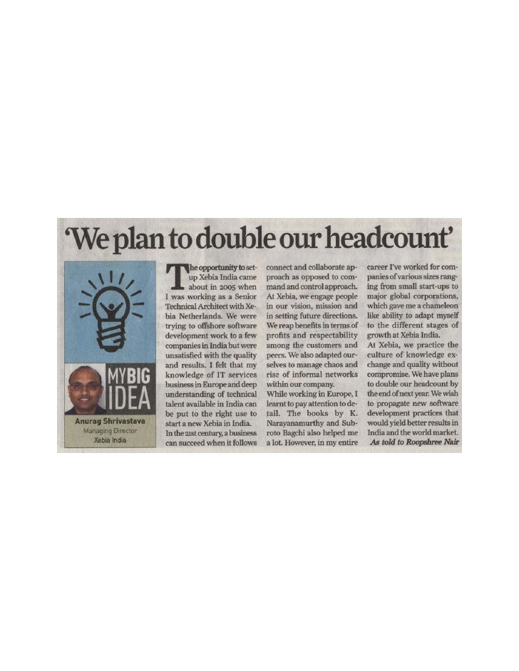 """""""We Plan to double our headcount"""" - MD, Xebia India"""