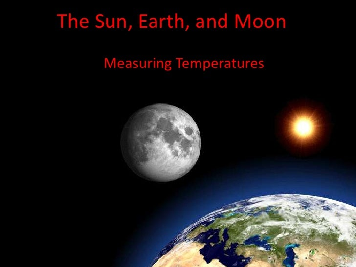 The Sun, Earth, and Moon<br />Measuring Temperatures <br />
