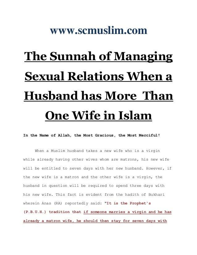 Husband in islam sex wife