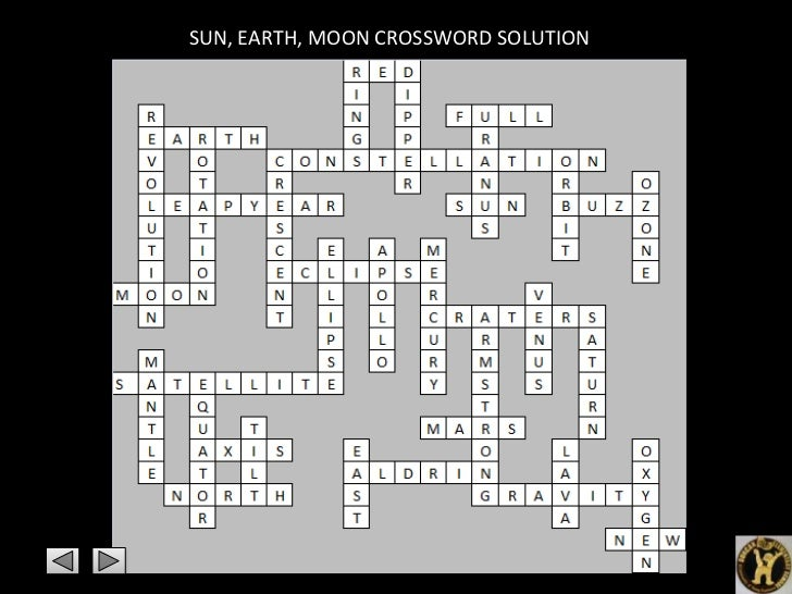 planets and moons crossword - photo #34