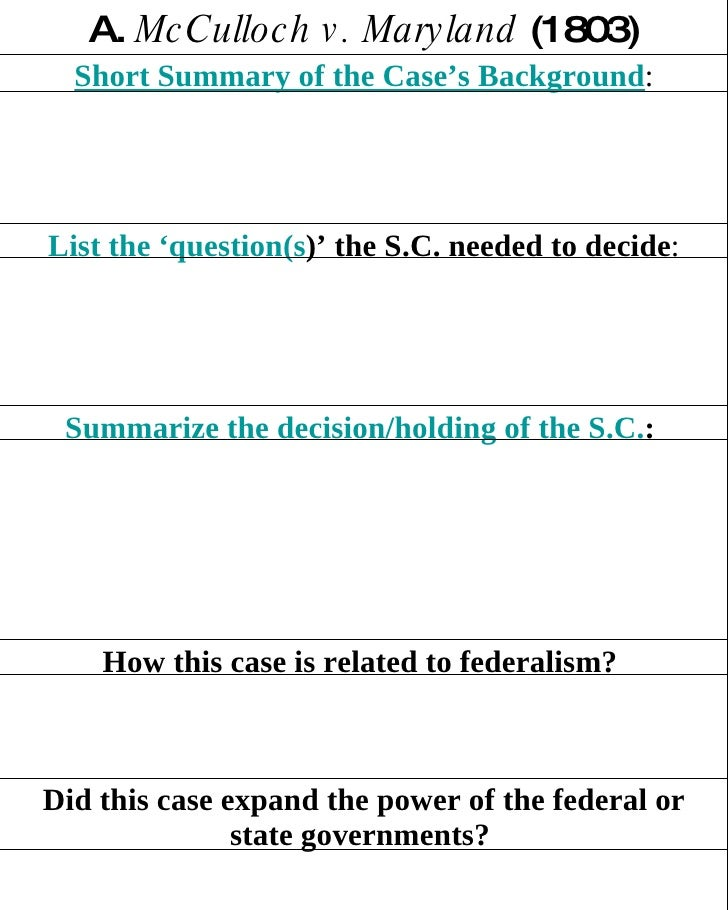 Did this case expand the power of the federal or state governments?   How this case is related to federalism?   Summarize ...