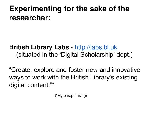 Digital Research Team • The Digital Research Team is a cross-disciplinary mix of curators, librarians and programmers supp...