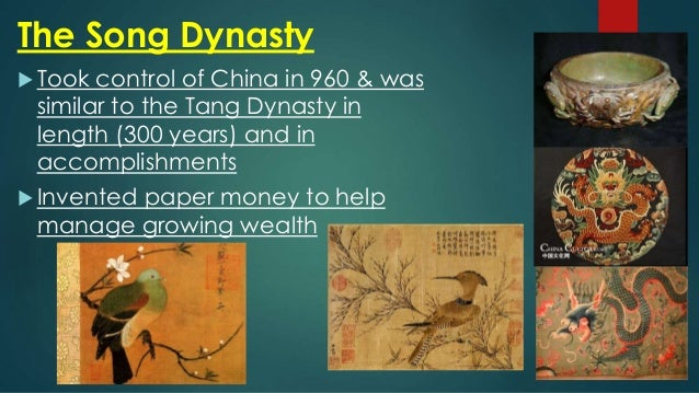 tang and song dynasty The tang and song dynasties in china, great advancements occurred that would forever change the way the world interacted with one another, conducted warfare, and even traveled around the world these innovations are at the core of many activities we still do today stretching back nearly 2,000 years in total, here is a look at [.