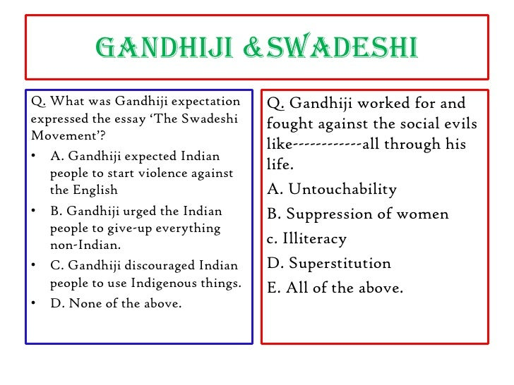 Swadeshi Movement Essay - Part 2