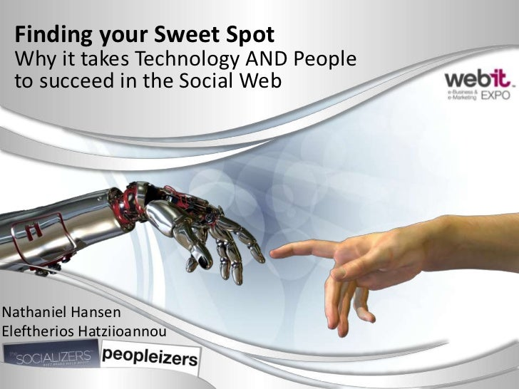 Finding your Sweet Spot Why it takes Technology AND People to succeed in the Social WebNathaniel HansenEleftherios Hatziio...