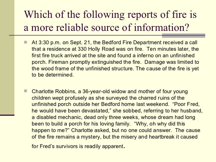 the synthesis essay teacherweb  evidence  which of the following reports of fire isa