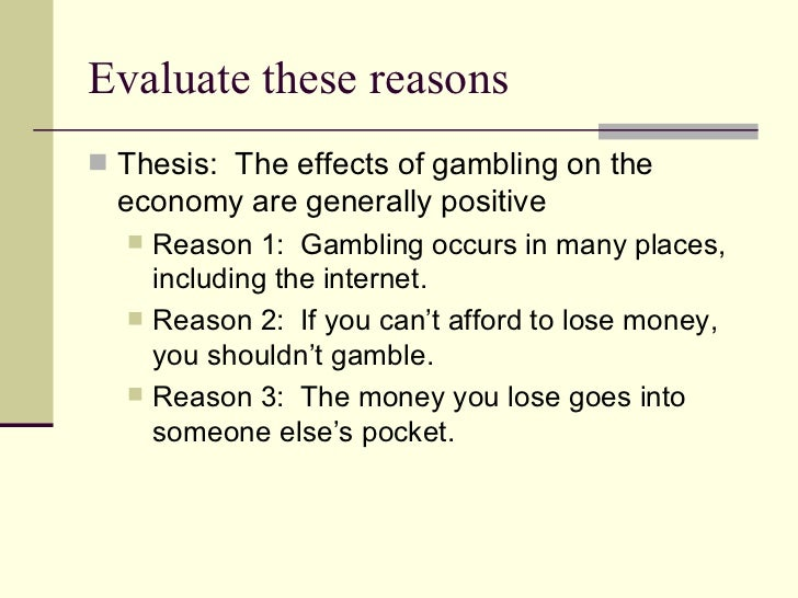 Essays on gambling