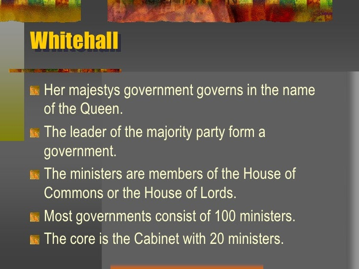 The System Of Government In Britain