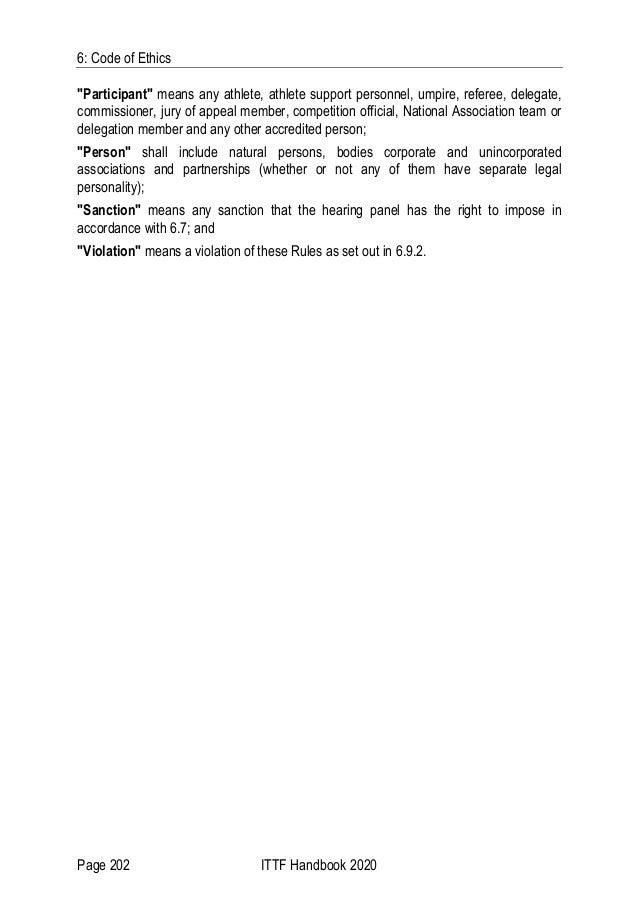 ITTF Rules 2020