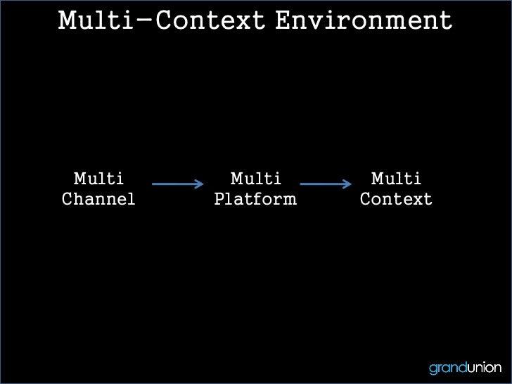 Multi-Context Environment Multi      Multi     MultiChannel   Platform   Context