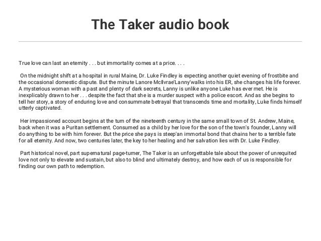 The Taker Book