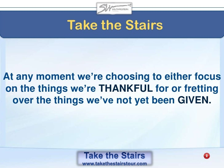 Take the Stairs<br />