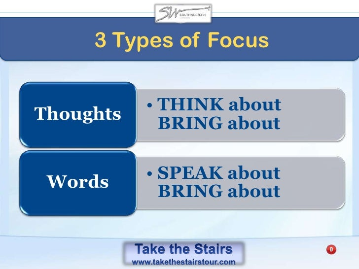Take the Stairs<br />At any moment we're choosing to either focus on the things we're THANKFUL for or fretting over the t...