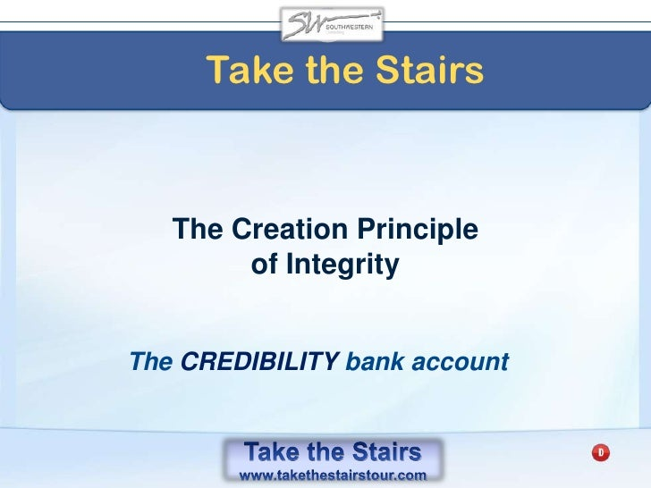 A Take the Stairs Leader<br />Focuses on the SOLUTION not on the PROBLEM<br />You create the momentum of your team<br />
