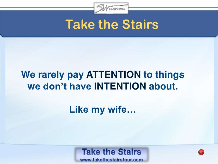 Take the Stairs<br />The Creation Principle<br />of Integrity<br />The CREDIBILITY bank account<br />