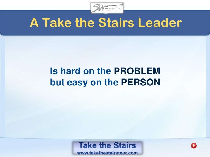 Take the Stairs<br />The Pendulum Principle<br />of Action<br />