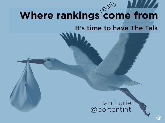 It's time to have The Talk Where rankings come from Ian Lurie @portentint