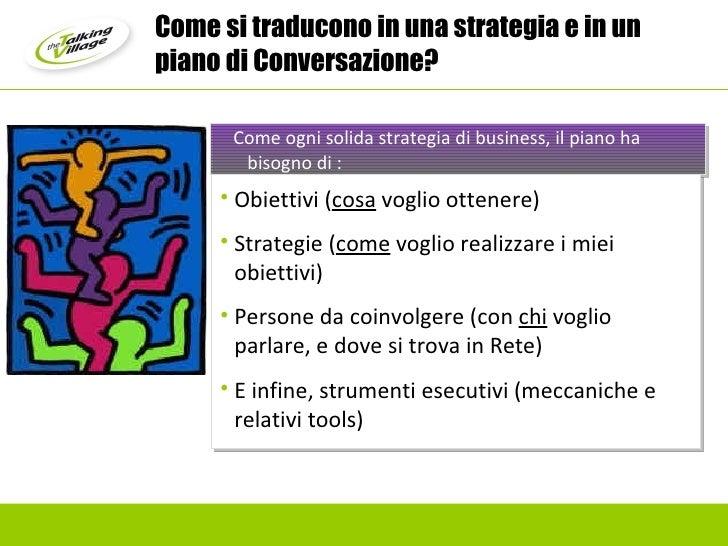 Come ogni solida strategia di business, il piano ha bisogno di : <ul><li>Obiettivi ( cosa  voglio ottenere) </li></ul><ul>...