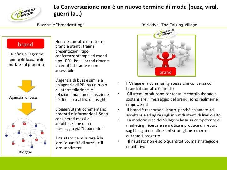 La Conversazione non è un nuovo termine di moda (buzz, viral, guerrilla…) Non c'è contatto diretto tra brand e utenti, tra...