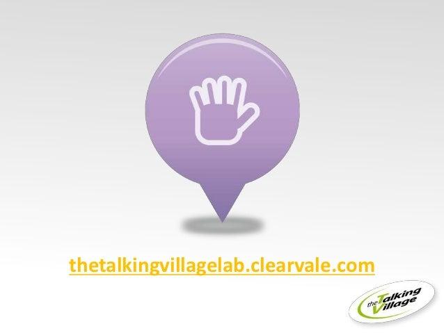 thetalkingvillagelab.clearvale.com