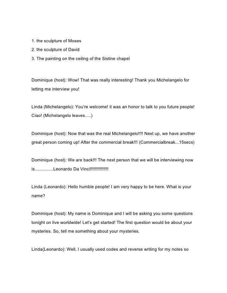 talk show script template