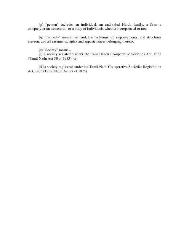 Apartment Management: The Tamil Nadu Apartment Ownership Act