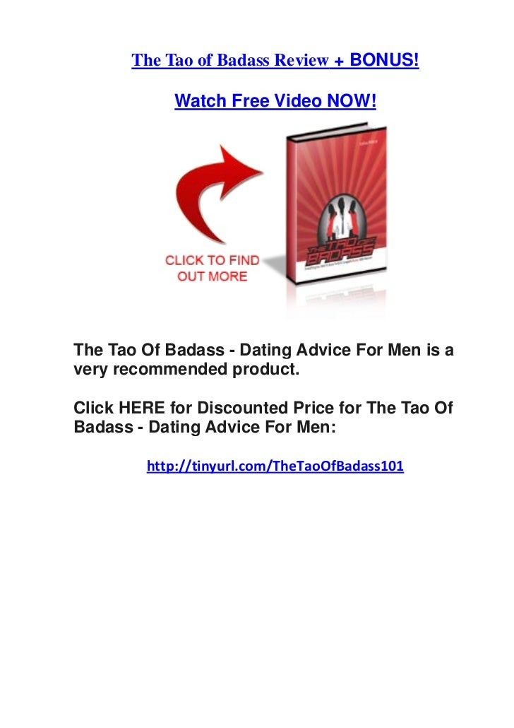 the tao of badass - dating advice
