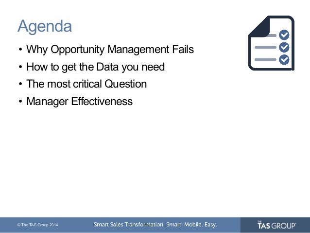 Webinar | Opportunity Management - Mind the Reality Gap Slide 3