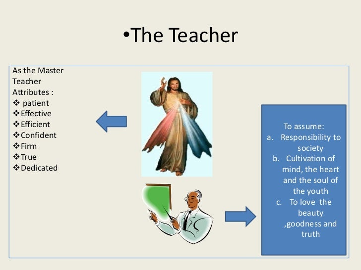 •The TeacherAs the MasterTeacherAttributes : patientEffectiveEfficient                          To assume:Confident   ...