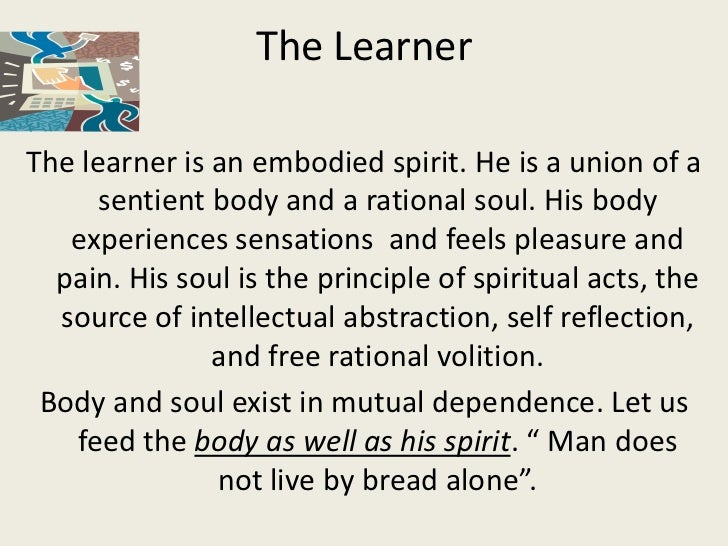 The Learner as an Embodied Spirit