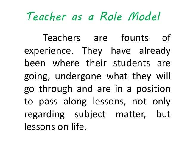 teacher is a role model essays