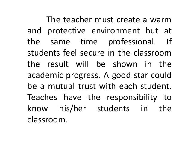 Essay on Teacher and student relationships