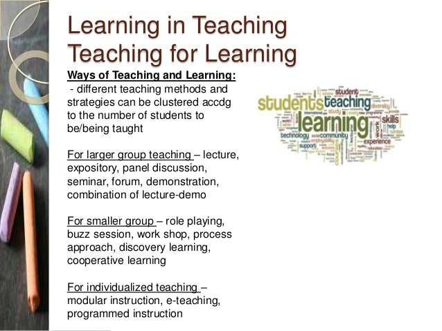 the role of a teacher in learning process and its relationship