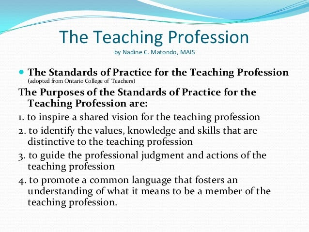 Essay writing teaching profession