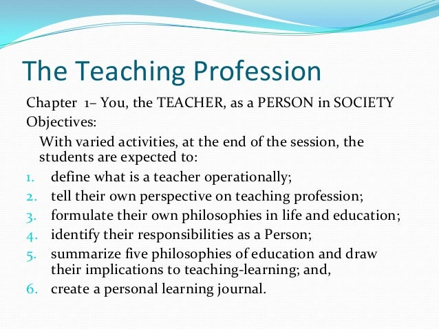 3 5 factors that define teaching as a profession 2018-6-10  factors that influence  they may be controlled by government or by the teaching profession  gdr village teacher, a teacher teaching students of all age.