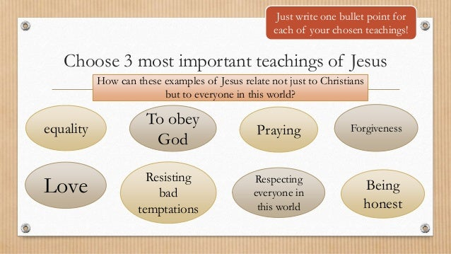 The teachings of jesus for 11-14 years