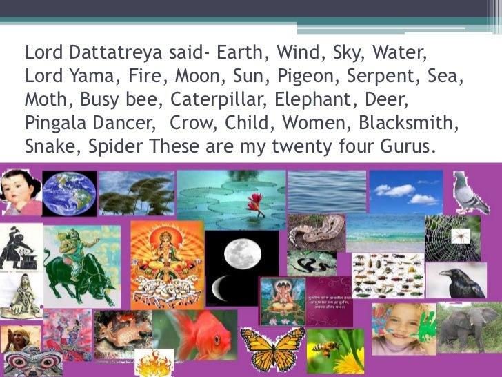24 Gurus of Lord Dattatreya The Guru of Environmental Education