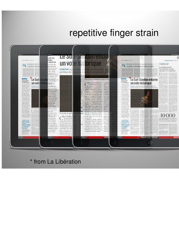 repetitive finger strain* from La Libération                      15
