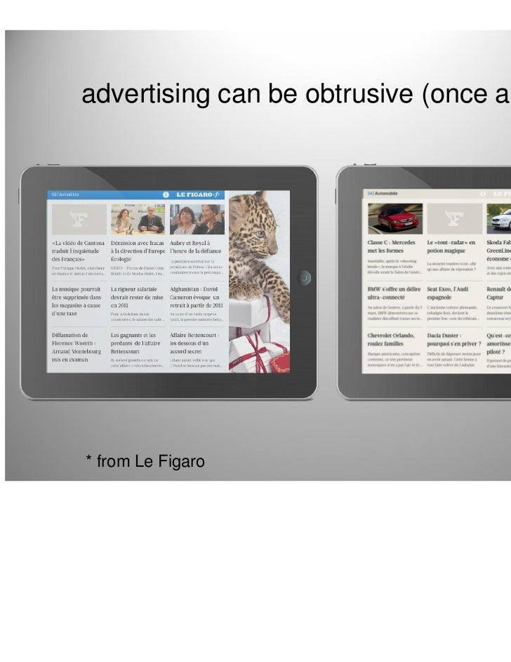 advertising can be obtrusive (once again)* from Le Figaro                            16