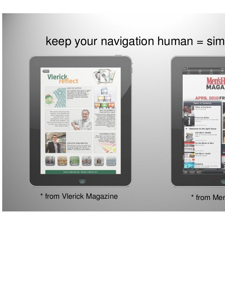 keep your navigation human = simple* from Vlerick Magazine    * from Men's Health                                         ...