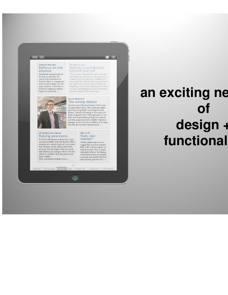 an exciting new mix         of      design +    functionality                      4