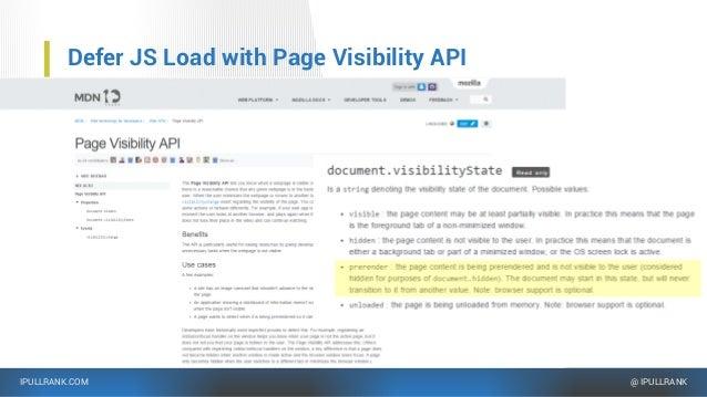 IPULLRANK.COM @ IPULLRANK Defer JS Load with Page Visibility API …