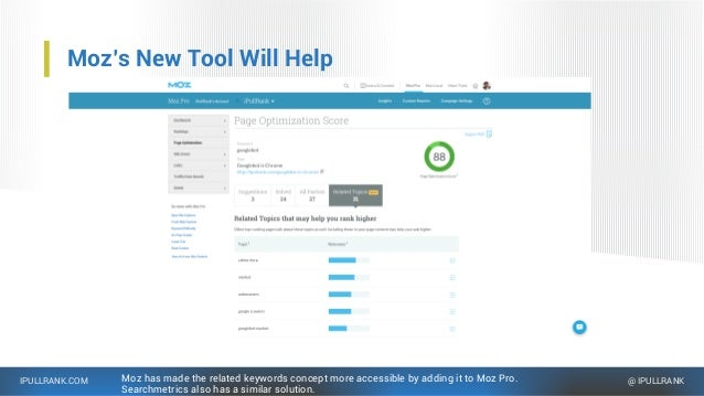 IPULLRANK.COM @ IPULLRANK Moz's New Tool Will Help Moz has made the related keywords concept more accessible by adding it ...