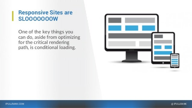 IPULLRANK.COM @ IPULLRANK Responsive Sites are SLOOOOOOOW One of the key things you can do, aside from optimizing for the ...