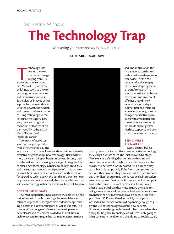 TODAY'S PRACTICE         Marketing Mishaps             The Technology Trap                                   Marketing you...